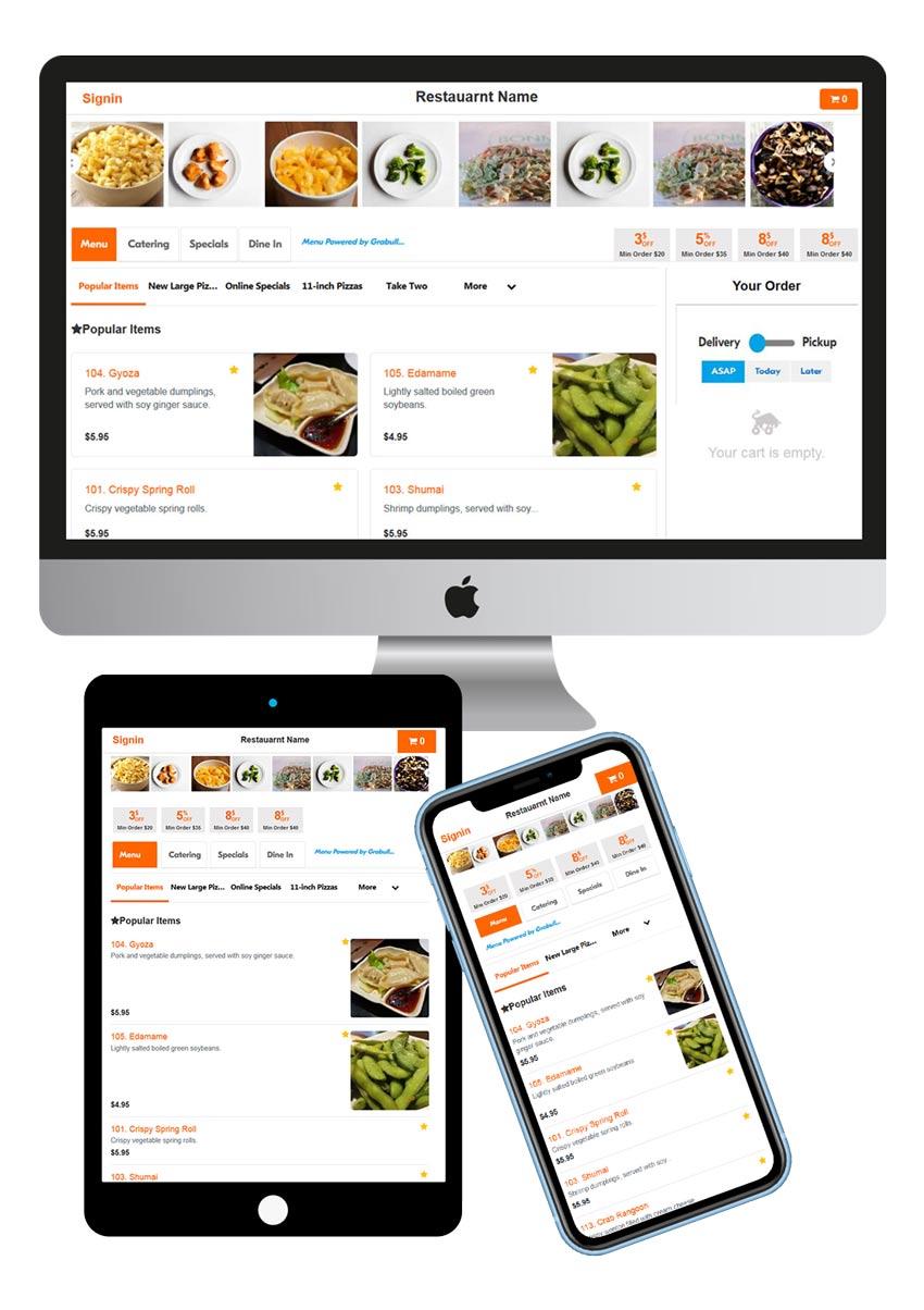 Restaurant website design with Free Online Order